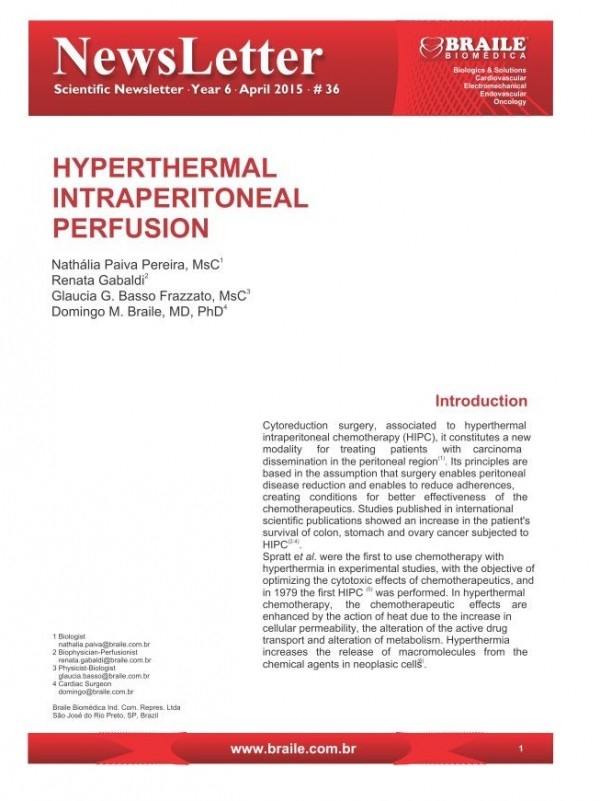 Hyperthermal Intraperitoneal Perfusion