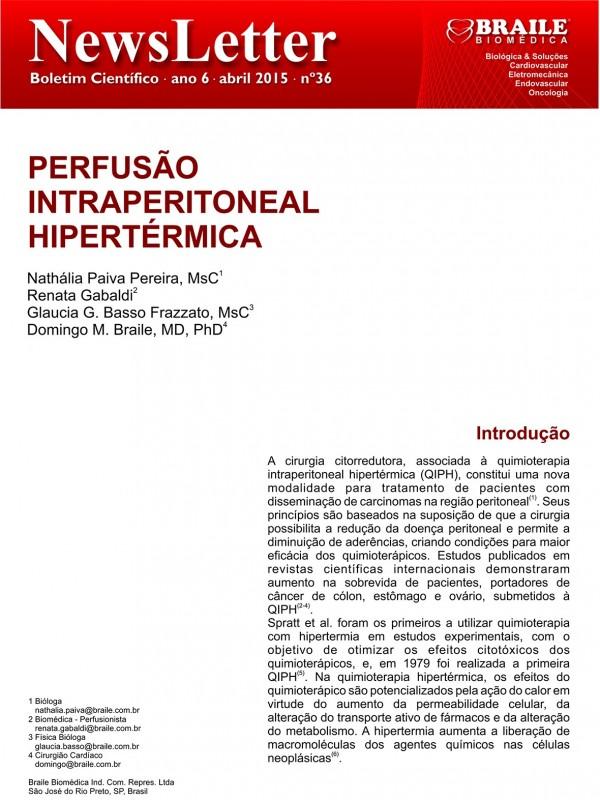 Perfusão Intraperitoneal Hipertérmica