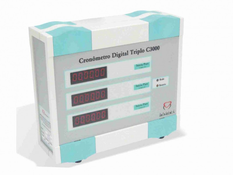 Cronômetro Digital Triplo c3000
