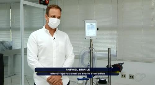 ECMO da Braile é notícia na TV Tem da Rede Globo