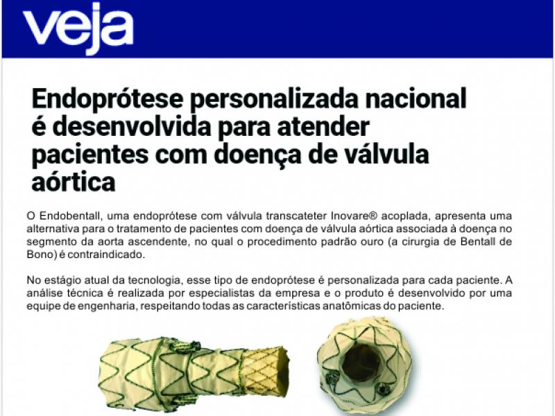 Endoprótese personalizada nacional é desenvolvida para atender pacientes com doença de válvula aórtica