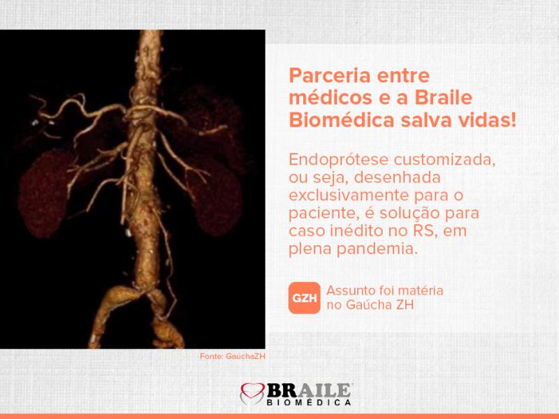 Parceria entre médicos e a Braile Biomédica salva vidas!