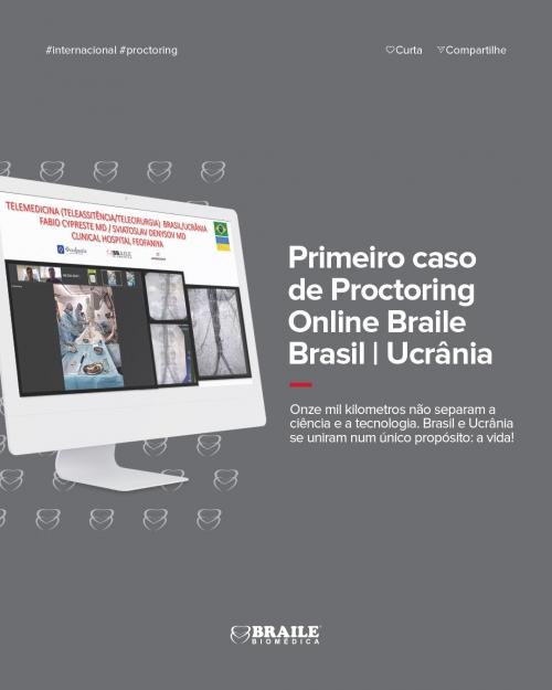 Primeiro caso de Proctoring Online Braile Brasil | Ucrânia