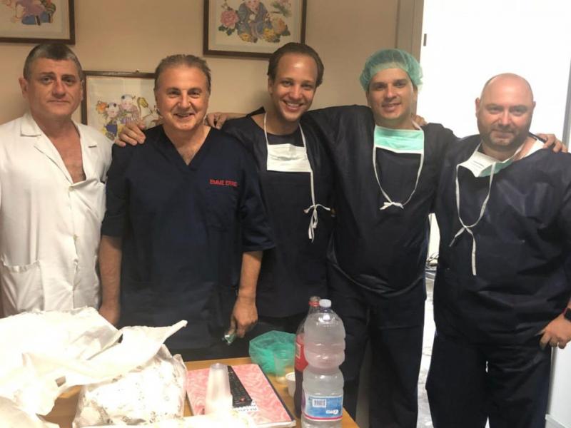 El primer procedimiento de la endoprótesis ramificada de Braile Biomédica en Italia.